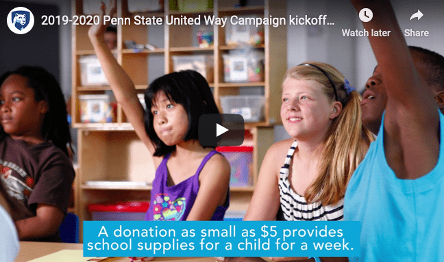 2019-20 Penn State United Way Campaign kickoff